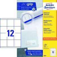 Avery 3661 universaletiketter med Ultragrip 67,7x70mm