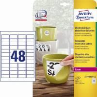Avery aftagelige og vandfaste etiketter L4778REV-20, 45,7x21,2mm