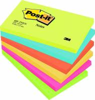 Post-it notes neon 76x127mm, 4 ass farver