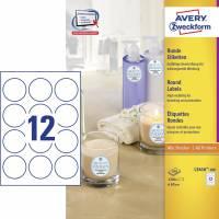 Avery promotion etiketter runde L3416-100, Ø60mm hvid
