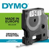 Dymo labeltape D1 6mm 43613 sort på hvid