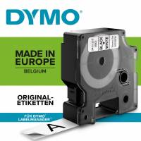 Dymo labeltape D1 9mm 40913 sort på hvid