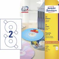 Avery CD labels L6043-25 classic size 117mm mat