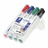 Lumocolor whiteboardmarker 2mm, 4 ass farver