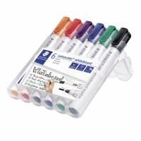 Staedtler Lumocolor 351 whiteboardmarker 2,0mm, sæt med 6 stk