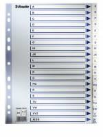 Esselte register PP A4 A-Å med kartonforside hvid