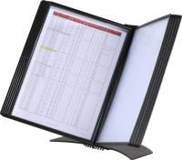 Easymount registersystem bordmodel A4 til 20 lommer sort