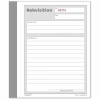 Rekvisitionsbog med kopi 2x50 blade 108x150mm
