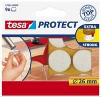 Tesa filtpuder  Ø26mm hvid, 9 stk