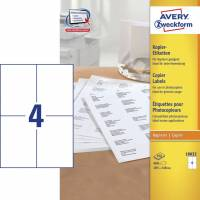 Avery 18032 kopietiketter 105x148mm, 100 ark