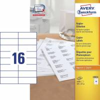 Avery 18034 kopietiketter 37x105mm, 100 ark