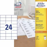 Avery 18037 kopietiketter 37x70mm, 100 ark