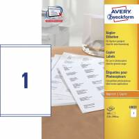 Avery 18039 kopietiketter 210x290mm, 100 ark