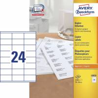 Avery 18030 kopietiketter 36x70mm, 100 ark