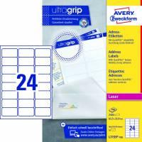 Avery L7159-100 QuickPEEL adresse etiketter til laser 63,5x33,9mm