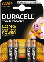 Duracell batteri Plus Power AAA MN1500, pakke a 4 stk
