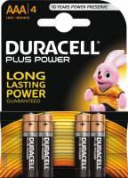 Duracell batteri Plus Power AAA MN1500, pakke a 4 stk