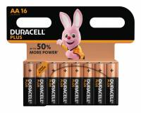 Duracell Plus Power AA  batterier, pakke a 16 stk