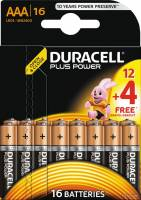 Duracell Plus Power batteri AAA MN2400, pakke a 16 stk