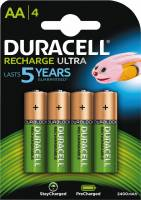 Duracell batteri genopladelig AA 2400mAh, 4 stk
