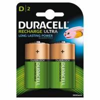 Duracell genopladelig D batterier 2200mAh, 2 stk