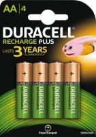 Duracell genopladelig AA batteri 1300 mAh, 4 stk
