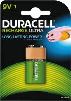 Duracell genopladelig 9V 150mAh batteri