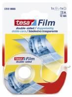 Tesa dobbeltklæbende tape 12mmx7,5m klar