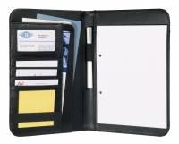 Wedo konferencemappe A5 inkl. blok i sort læderlook