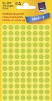 Avery etiket Ø8mm 3179 neon grøn
