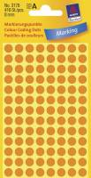 Avery  etiket Ø8mm 3178 neon orange