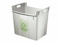 Leitz Basko recycling papirkurv 40 liter grå
