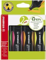 Stabilo Boss Green tekstmarker, sæt a 4 stk