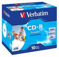 Verbatim CD-R AZO, 52X, Wide Printable