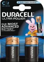 Duracell Ultra Power C alkaline batteri med tester, 2stk