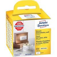 Avery shippingetiket permanent 101x54mm hvid, 220 stk
