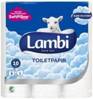 Lambi toiletpapir 3-lags 21,25 meter hvid, 36 ruller