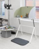 Standup lyddæmpende bordskærm 800x550mm grøn