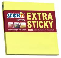 Stick'N notes Extra Sticky 76x76mm neon gul
