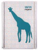 Mayland studiekalender A6 Senator Solo 10,5x15cm giraf uge 19801220