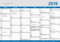Mayland kontorkalender A5 klassisk 21x15cm 19058000