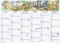 Mayland vægkontorkalender A3 med illustrationer 42x30cm 19063150