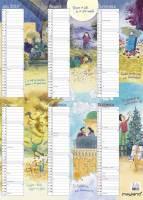 Mayland kontorkalender A3 Familiens års med illustrationer 30x42cm