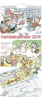 Mayland familiekalender med illustrationer 23x50cm 19066100