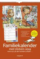 Mayland familiekalender 6 kolonner med stickers og illu. 29,7x42cm 19066250