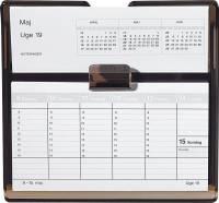 Mayland uge bordkalender Flip-A-Week REFILL 18x10cm ekskl. stativ