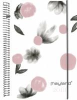 Mayland ugekalender A6 Senator hård PP blomster