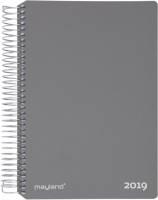 Mayland spiralkalender tværformat hård PP grå 1 uge pr side