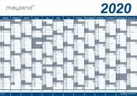 Mayland kæmpekalender 2020 1x13mdr. vinyl 100x70cm 20065000