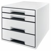 Leitz Desk Cube skuffekabinet med 4 skuffer hvid